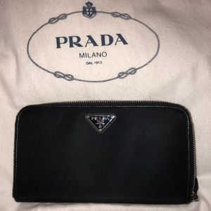 Prada nylon wallet